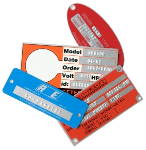 Metal Plates for part marking