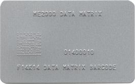 2D Data Matrix Embossed Metal Plate