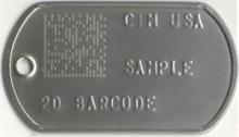2D Data Matrix Embossed Metal Tag